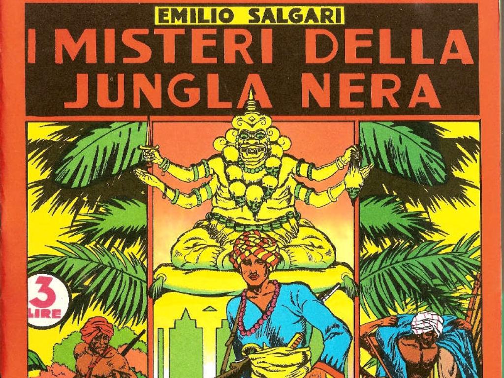 Copertina del libro I misteri della giungla nera di Emilio Salgari (2)